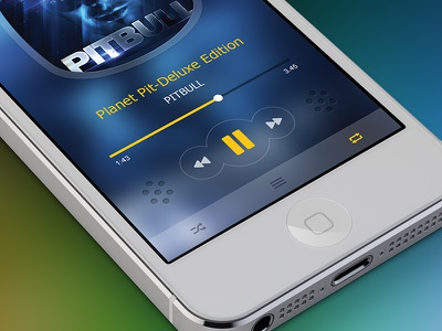 Music Player  music player mobile ios icon design ios7 clean iphone application sound blue