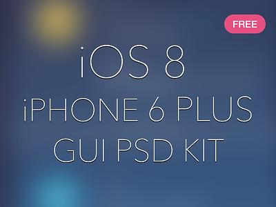iOS 8 iPhone 6 Plus GUI PSD menu vector psd free 6 plus iphone ios8 download freebies ux ui gui