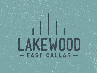 Lakewood dallas typography logo texture