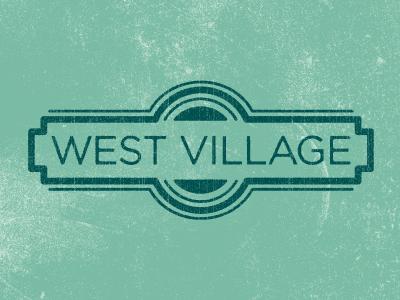 West Village logo badge texture dallas typography