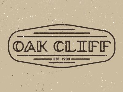 Oak Cliff texture logo badge dallas oak cliff typography