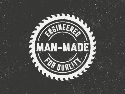 Man Made man man-made saw badge quality logo blade manly masculine