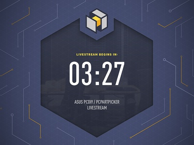 PCPP Livestream Countdown circuits countdown livestream source sans pro din pcpartpicker