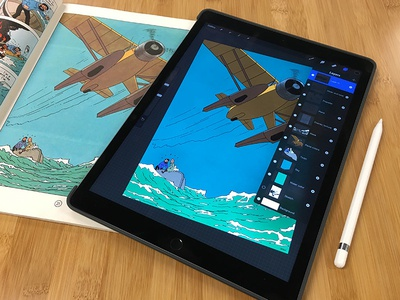Drawing Straight Lines With Procreate : Tintin u procreate app ipad pro apple pencil by phil coffman