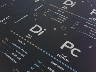 Element Business Cards