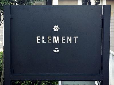 Element Sign sign steel waterjet