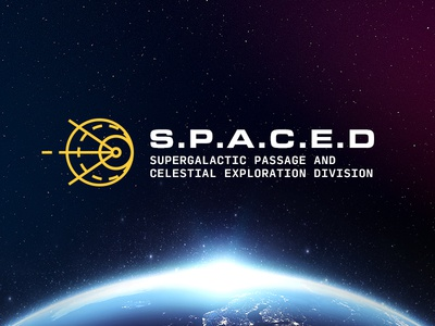 S.P.A.C.E.D Logo future spaced space branding logo moon spacedchallenge