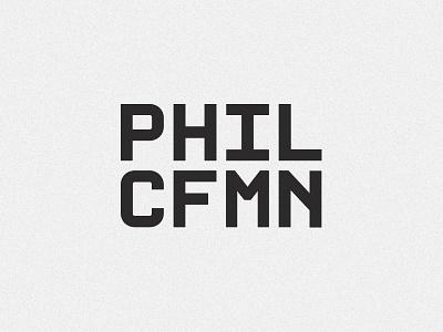 PHILCFMN monospace personal branding