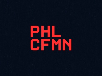 PHLCFMN monospace personal branding