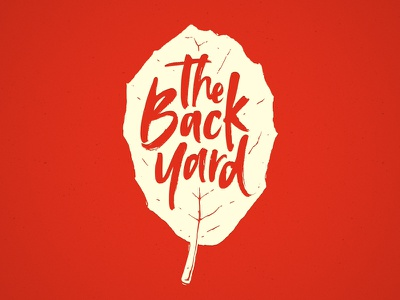 The Back Yard logo branding