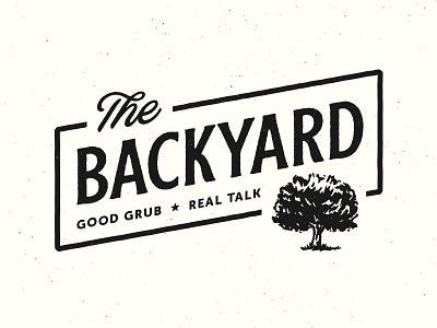 The Backyard rough cut blackbike logo branding