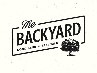 The Backyard rough cut blackbike logo branding