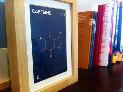 CAFFEINE / Priority Level 1 proxima nova caffeine molecular compound element art print