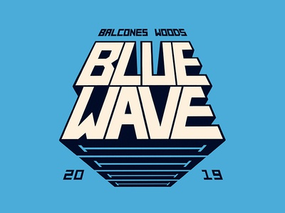 Blue Wave procreate t-shirt swim team logo