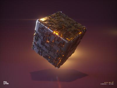 SciFi Obj 03 practice 3d cube sci-fi octane c4d