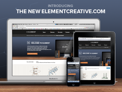 Introducing the new elementcreative.com element website responsive web design science!