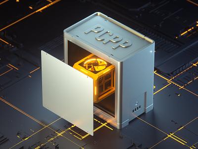 PCPP Cube Computer octanerender octane c4d cinema4d