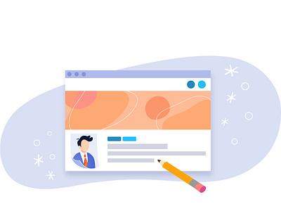 CMS Dashboard Welcome Banner flat  design website design illustration