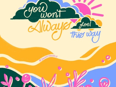 You Won't Always Feel This Way web typography illustration design