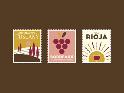 Wine Region stamps