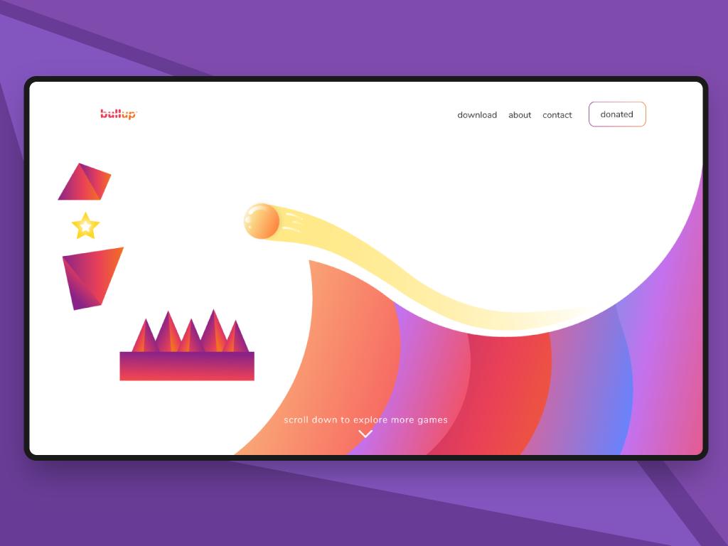 My First Game illustration website ui ux illustrator web design