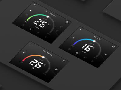 temperature control screen