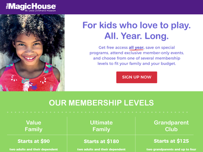 Daily UI (#dailyui) - Landing Page sign up membership colorful kids child theme children landing page ui landing pages conversions conversion rate optimization call to action cta conversion lpo landing page dailyui003 dailyui daily challange ux design uidesign