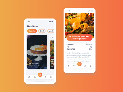 Mobile app for nutrition and fitness app ios app ios android landing page website logo web figma design ux ui  ux ui