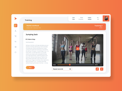 Mobile app for nutrition and fitness date goal yoga training nutrition sport app ios android landing page logo web figma design ux ui  ux ui
