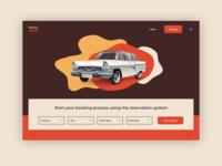 Hertz Retro auto Landing page