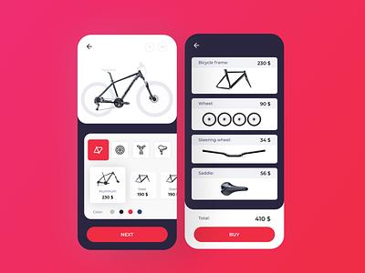 IOS Bicycle BUY ios app ios8 ios7 apple app android ios website app design logo design web ux ui  ux ui figma bicycle app bicycle
