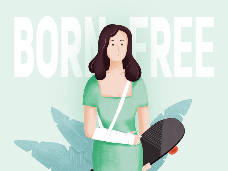 Born Free website web ux girls design ui illustration