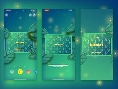 Username Jungle Card localisation app 3d bokeh virality green card username jungle zenly