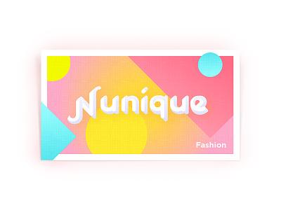 Nunique identity visit card colourful logo