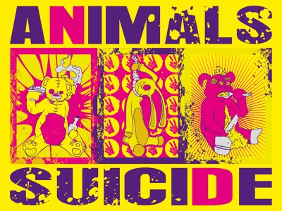 Animals Suicide illustration vector design