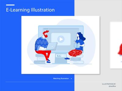 E-learning Instructions Illustration