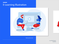 E-learning Instructions Illustration