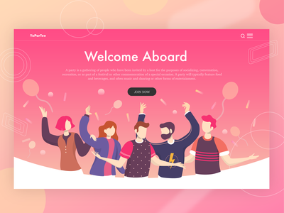 Welcome Party Landing Page Illustration