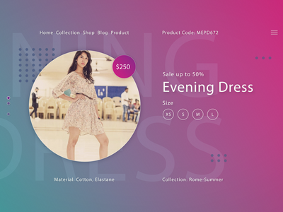 Fashion website UI/UX 2019