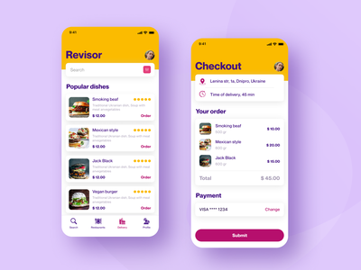 Restaurant app shopping app application colors cart concept search ios grocery design order food app clean list interface card food burgers app delivery checkout