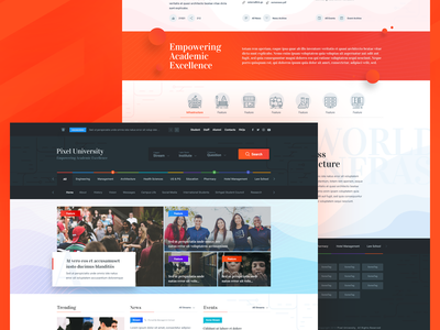 Concept : University Home Page branding design web university homepage uidesign