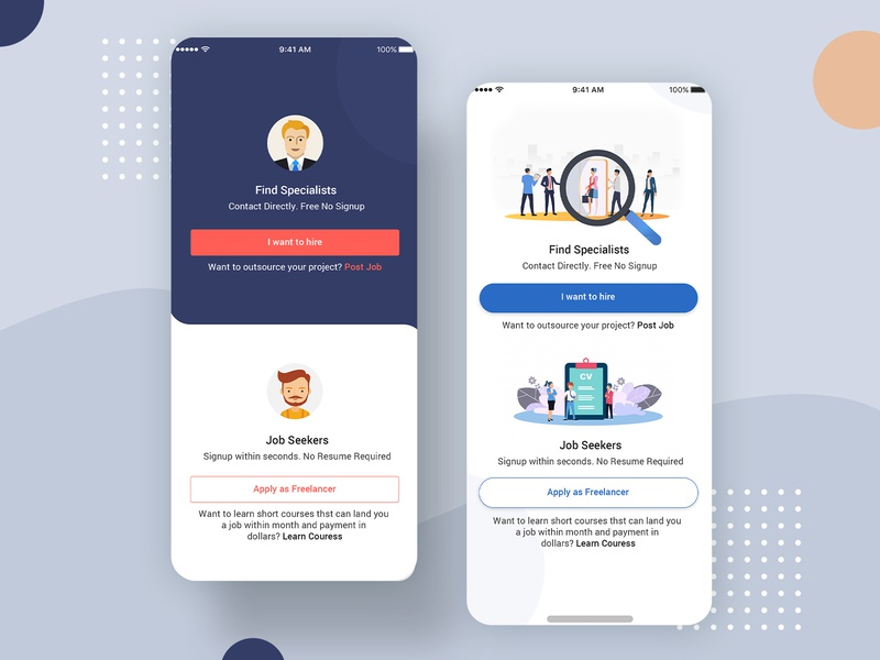 Freelancer App Ui Design PSD android web login profile ui user profile free psd android app app design