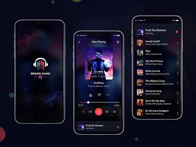 Mobile Music Player Ui Design PSD ios web login profile ui user profile free psd android app app design