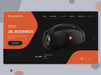 Ecommerce Landing Page Templates PSD illustration website branding banner free psd design