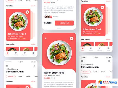 New Foody App Ui Kit Design login illustration profile user profile app design