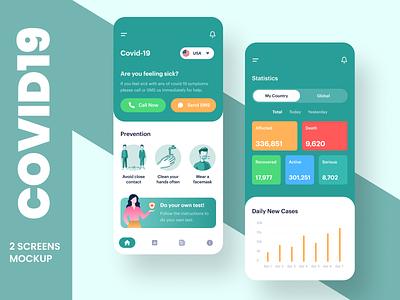 Covid 19 App UI Design ui android app design