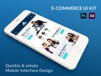E-Commerce Mobile App UI KIt PSD