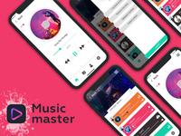 Music app concept UI KIT PSD