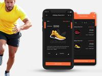 E-commerce adidas ui kit PSD