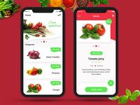 Fresh Vegetables iOS App UI